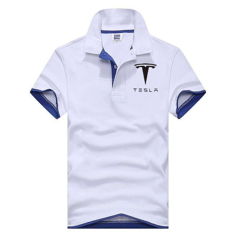 2019 Men's colors Tesla   polo   shirts casual men's short-sleeved tesla motors   polo   shirt brand Men   polos