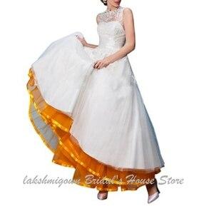 Image 5 - Lakshmigown uma linha tule underskirt feminino sem aros 100cm até o chão vestido de casamento saias acessórios de noiva 2019
