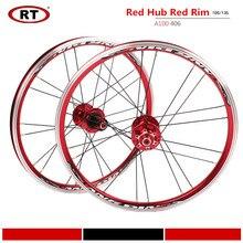 Комплект складных колес для велосипеда RT A100 406/451, 20 дюймов, ульсветильник кие колеса для BMX, передняя 2 и задняя 5 колесная втулка подшипника, д...