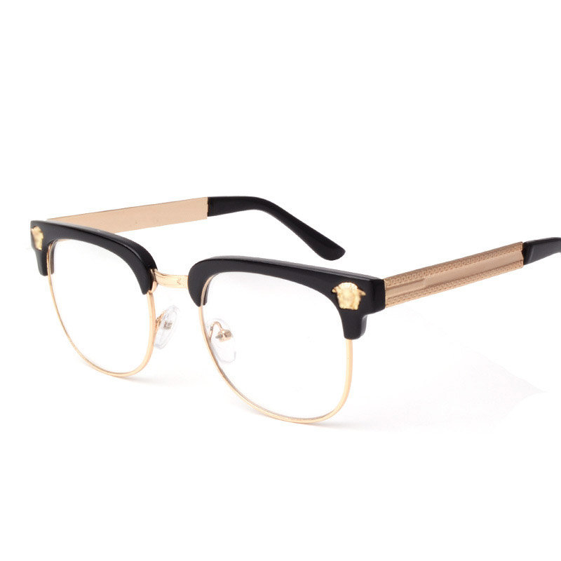 Round Glasses Frame 2019 New Classic Luxury Brand Designner Personlity Sexy Vintage Beauty Head Flat Mirror Uv400 Ladies Glasses