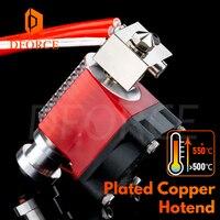 DFORCE V6 Plated Copper Hotend High temperature Nozzle heat Block heat Break Heatsink for PETG PEEK PEI ABS carbon fiber