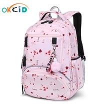 OKKID school bags for girls waterproof bookbag student cute