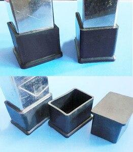 Image 1 - 20x20 22x22 25x25 30x30 38x38 40x40 45x45 50x50 60x60 chaise carrée pieds capuchon protection enveloppement table bureau jambe tube insert fin