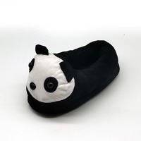 anime Indoor Slippers Special panda custom a warm winter lovers home slippers thick hard bottom shoes on floor lovers shoes