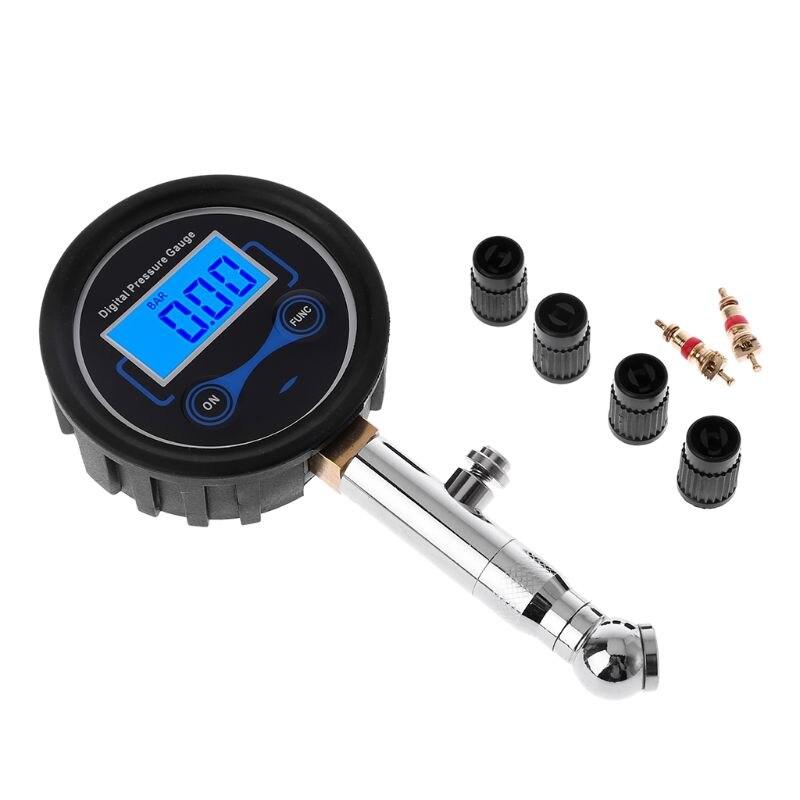 LCD Digital Tire Pressure Gauge 0-200PSI Car Tyre Air Pressure For Motorcycle Cars Truck Bicycle Motorbike Vehicle Tester63HF