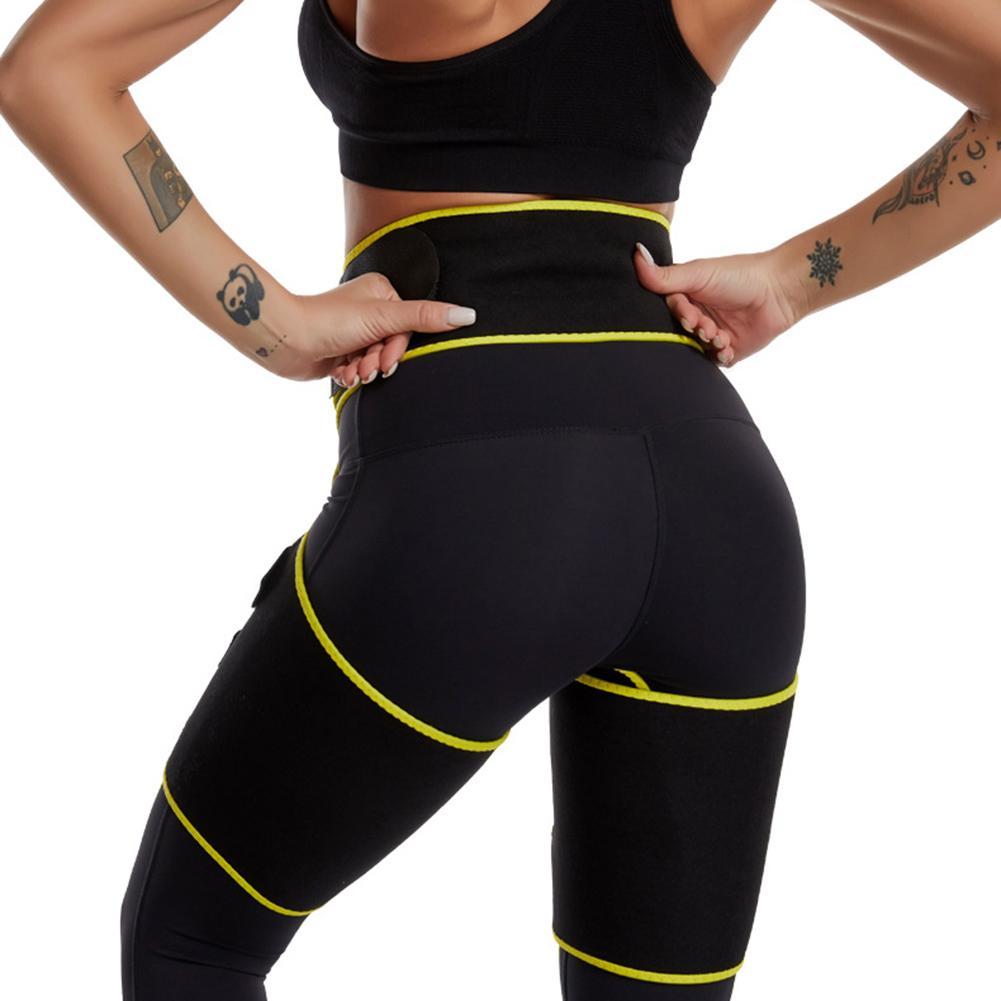 Yimeezuyu Hip Enhancer Waist and Thigh Trimmer for Women Weight Loss Butt Lifter Waist Trainer Slimming Belt Thigh Trimmers Wrap,Yellow S//M