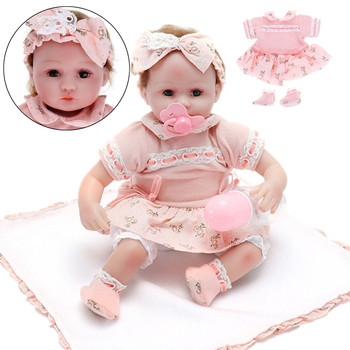 18 inch 45CM Doll Reborn Baby Silicone Reborn Dolls Toys Realistic Lifelike Reborn Toys Babies Toys for Girl Kids Birthday Chris
