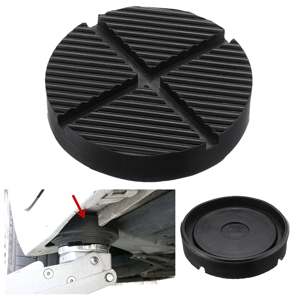 12.5 * 2.6cm Car Black Jack Rubber Pad Rubber Profile Jack Pad For Vehicle Support Rubber Block Tool Repair Tools