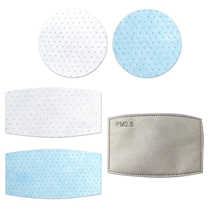 3 Layers Non-Woven Disposable Mask Pad Anti-Haze PM2.5 Dustproof Gasket Replacement Breathable Respirator Filter Cushion