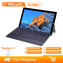Máy Tính Bảng Teclast X4 2 Trong 1 Máy Tính Bảng Laptop 11.6 Inch Windows 10 Celeron N4100 Quad Core 1.10GHz Ram 8GB SSD 256GB HDMI Với Bàn Phím Máy Tính Bảng