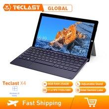 Teclast X4 2 ב 1 מחשב נייד Tablet 11.6 אינץ Windows 10 Celeron N4100 Quad Core 1.10GHz 8GB RAM 256GB SSD HDMI עם מקלדת Tablet