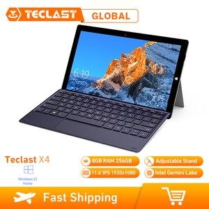 Image 1 - Teclast X4 2 In 1 Tablet Laptop 11,6 Zoll Windows 10 Celeron N4100 Quad Core 1,10 GHz 8GB RAM 256GB SSD HDMI Mit Tastatur Tablet