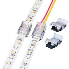 10 pces 2pin 3pin 4pin 5pin led strip conector para único rgb rgbw 3528 5050 ws2812b tira conduzida para fio tira terminais de conexão