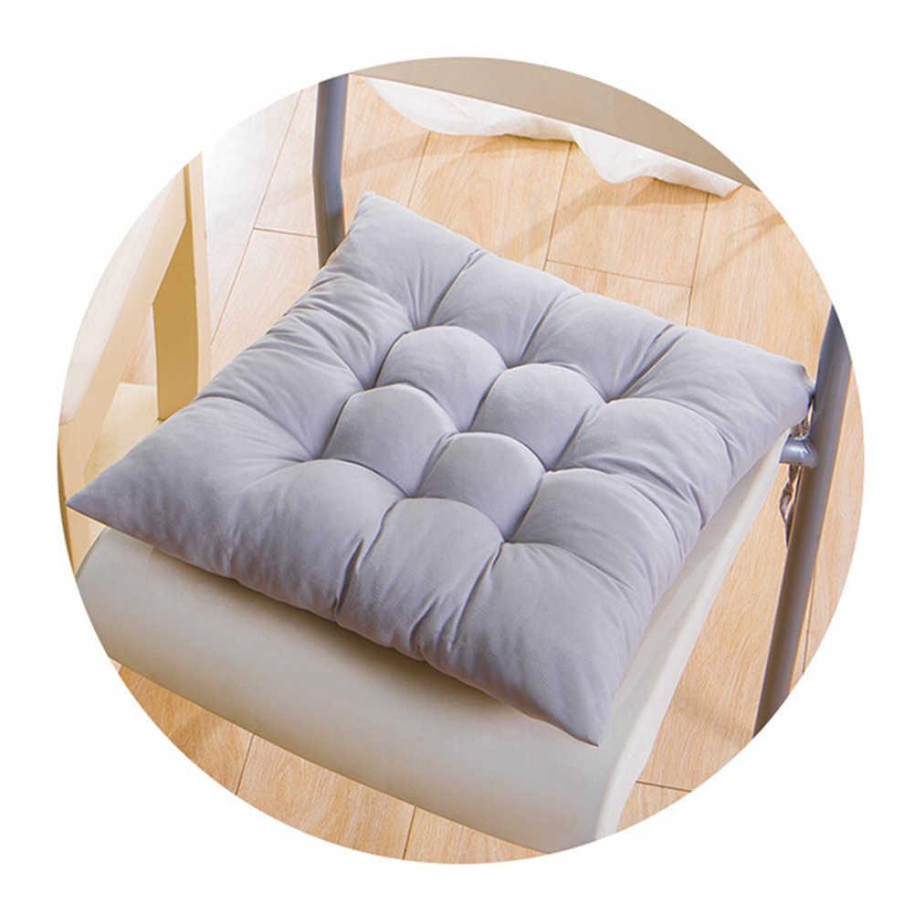 Miękka poduszka na krzesło kwadratowa kryty ogrodowa Patio strona główna kuchnia Sofa biurowa poduszka siedziska pośladki nasadka na sedes 40x40cm