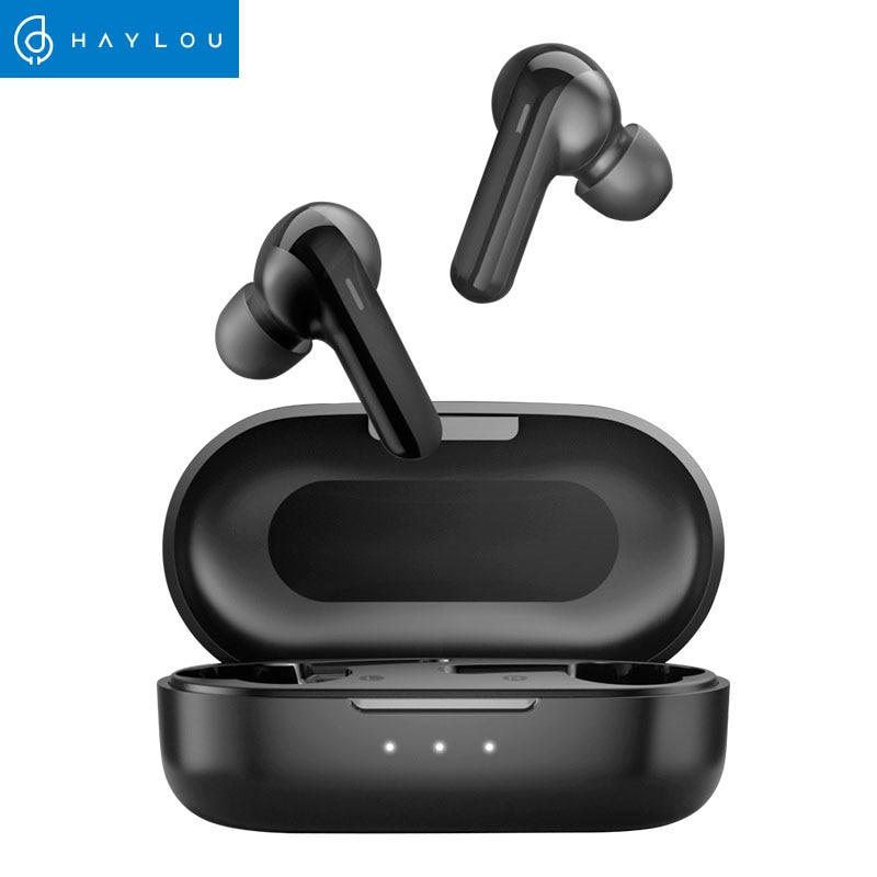 Redução de ruído dsp haylou gt3 bluetooth 5.0 fones de ouvido, 28 horas de música tempo controle de toque inteligente sem fio fones de ouvido do jogo