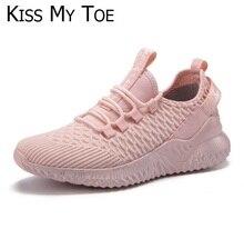 2020 nuevo primavera gran tamaño amante Casual malla de aire transpirable Chaussure Mujer Zapatillas deporte plataforma Zapatos para Mujer