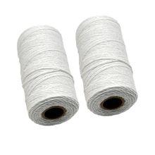 Thread-Yarn Blanket White Tapestry-Rug Carpet Weaving 2-Roll Pure-Cotton Warp 1mm Loom