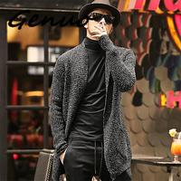 Genuo Men Sweater Long Sleeve Cardigan Males Pull Style Cardigan Clothing Fashion Thick Warm Mohair Sweater Men England Style