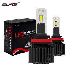 Eurs 90w hi/lo feixe h4 h7 conduziu a lâmpada do farol do carro h11 h1 hb4 auto conduziu o farol 9012 canbans c321 luz de nevoeiro 18000lm 12v 24v