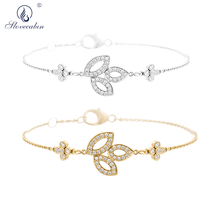 Slovecabin Original 925 Sterling Silver Wholesale Three Luster leafs Women Luxur
