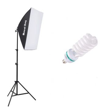 "Photography Continuous Softbox Lighting Kit 20""X28"" Professional Photo Studio Equipment E27 5500K Video Lighting Bulb Stand"