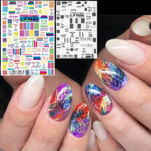 NEWEST JAPAN MG191127-37 red yellow blue DESIGNS flower 3d nail art stickers decal template diy tool decorations
