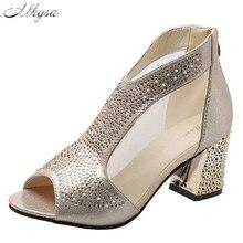 2020 New Woman Sandals Shoes Summer women Rear zipper Bling