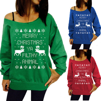 Autumn And Winter Popular Christmas Tree Theme Print Pullover Sweater new autumn winter knitted sweaters women christmas theme cute snowman and christmas tree ugly christmas sweater pullover women