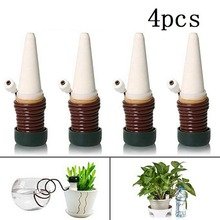 4pcs/set Automatic Drip Irrigation System Wireless Flowerpot Plant Waterers Taper Watering Tools DIY Home Garden Watering Device 4pcs set plastic automatic watering device plant watering irrigation spray bottle 4pcs agricultural watering can
