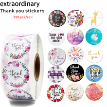 500 Pcs / roll 17 kinds of thank you stickers seal labels scrapbook cute decorative stationery