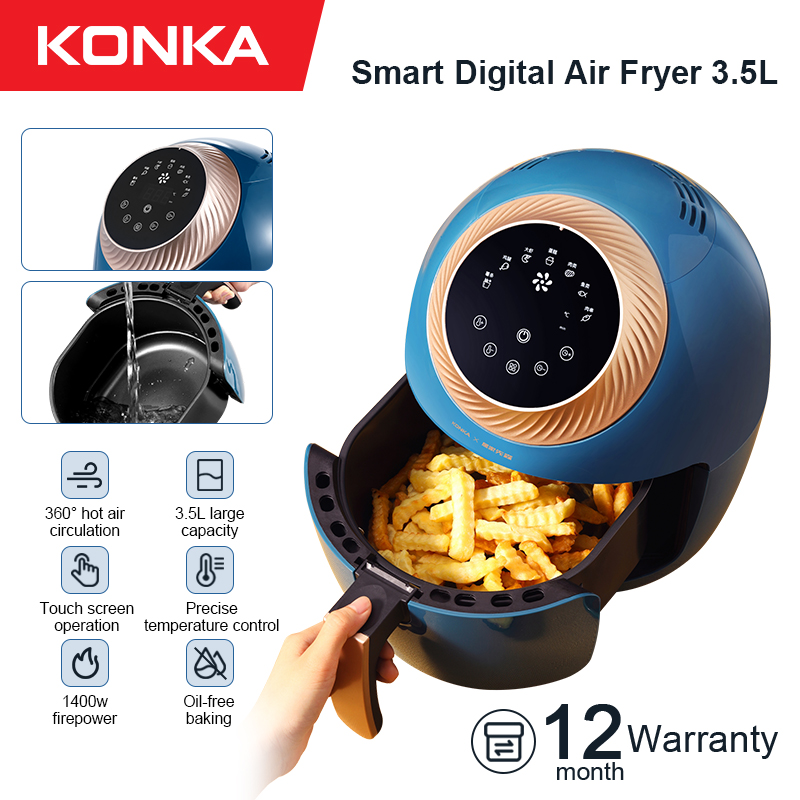 KONKA 3.5L Air Fryer Intelligent Automatic Electric Household Multi Functional Oven No Smoke Oil free fryer