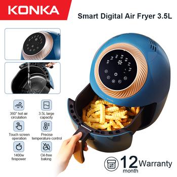 KONKA 3 5L beztłuszczowa frytownica inteligentne automatyczne elektryczne gospodarstwa domowego wielofunkcyjny piekarnik bezdymny bezolejowa frytownica tanie i dobre opinie CN (pochodzenie) KGKZ-AS2(WE) 1400 W 220-240 v 3 2L STAINLESS STEEL