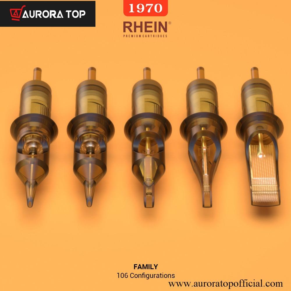 Одноразовые стерилизованные темно-коричневые высококачественные иглы для тату-картриджей Rain Revolution, длинный конус для ручек машинки для ка...