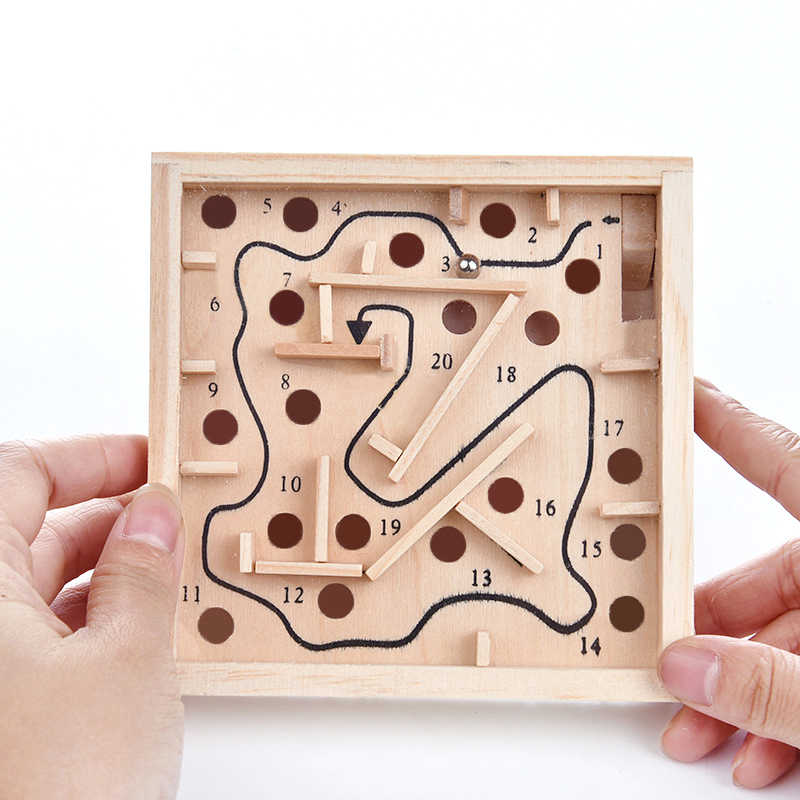 Juguete Educativo De Madera Montessori Para Niños Juego De Rompecabezas De Aprendizaje Temprano Laberinto Para Ejercitar Las Manos Y La Capacidad De Equilibrio Juguetes De Matemáticas Aliexpress