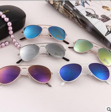 Kid Sunglasses Children's Reflective Popular Children Frog Mirror Boy Color Sunglasses Sunglasses Glasses