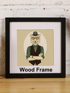Picture-Frame Square Photo-Plexiglass Wall-Hanging Wooden Classic Family for Gift Include