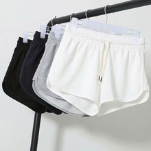 Fashion Summer Casual Shorts Woman Stretch High Waist Booty Shorts Female Black White Loose Beach Sexy Short(China)