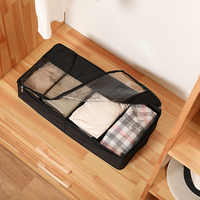 DINIWELL Folding Washable 210D Oxford Shoes Storage Box With Zipper PVC Cover Organizer Boxes For Boots Underwear Socks
