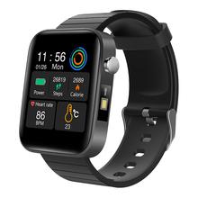 Zegarki sportowe moda zegarek mężczyźni pomiar temperatury ciała tętno ciśnienie krwi bransoletka tlenowa przypomnienie połączeń zegarki dla mężczyzn tanie tanio LIGE Akrylowe CN (pochodzenie) 24 8cm 3Bar Moda casual Cyfrowy Klamra Plac 22mm 11 3mm Hardlex Stoper Odporny na wstrząsy