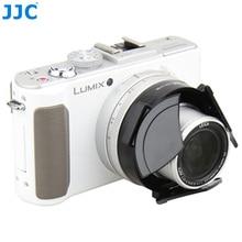JJC Camera Auto Lens Cap for PANASONIC DMC LX7/Leica D Lux6 Black Silver Self Retaining Automatic Protector
