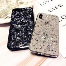 Luxury Foil Bling Glitter Conch Shell Soft Phone Case for iPhone X XS Max XR For 8 7 6 6S Plus Silicone Cover Capa