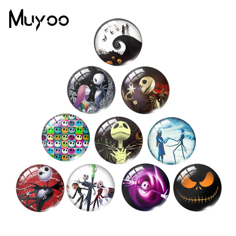 2019 New Jack Skellington Glass Cabochon The Nightmare Before Christmas Cabochons Hand Craft Merry Christmas Jewelry