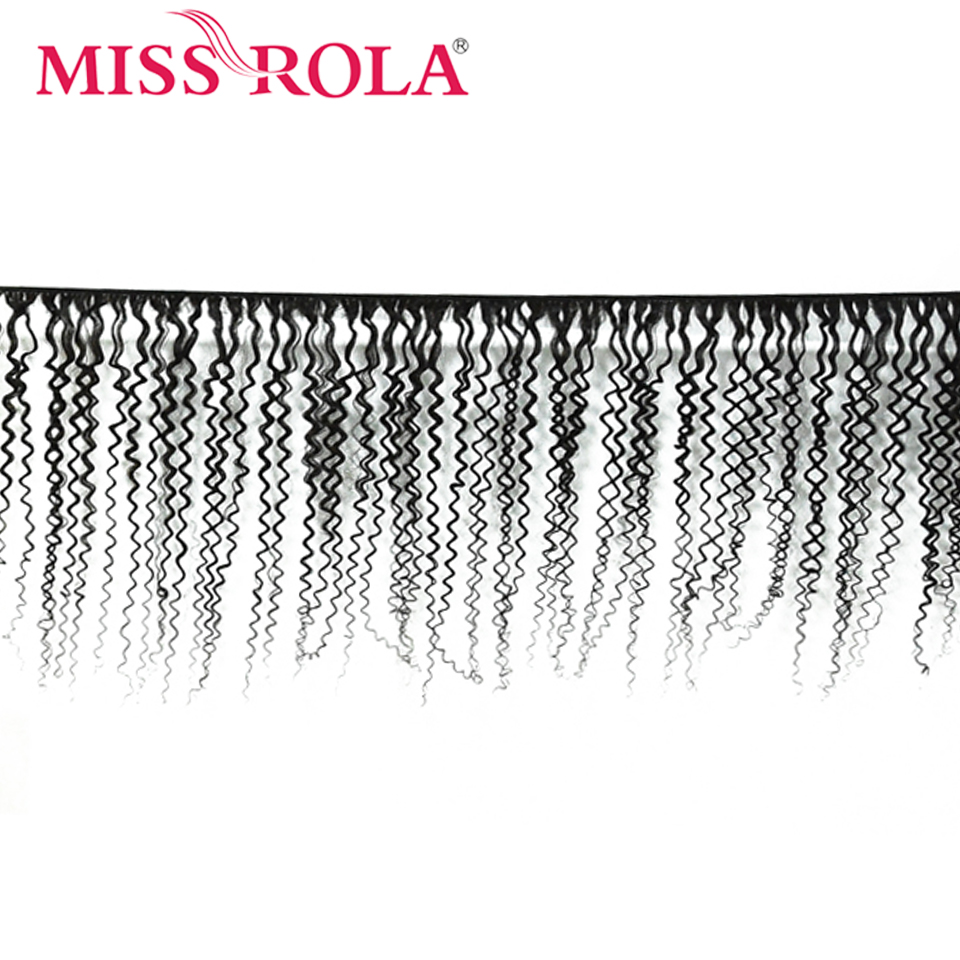H98253d7abd674401b651f4d484a5e03cq Miss Rola Hair Brazilian Hair Weave 100% Human Hair Kinky Curly 3 Bundles With Closure Non Remy Hair Extensions Natural Color