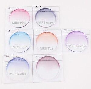 Image 3 - Par de lentes ópticas teñidas para presbicia miopía, graduadas, resistentes A los arañazos, índice 1,56 1,61 1,67