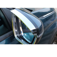Lsrtw2017 Acrylic Abs Car Rearview Rain Shield Paenl Trims for Peugeot 3008 5008 2019 2020 Accessories