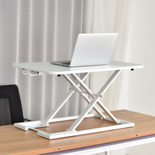 Standing Computer Desk Table  Lift Alternating Laptop Folding Table Multi-Gear Lift Convenient Upper Table Black White Silver