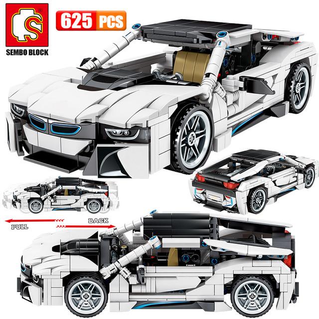 625pcs Creator Off-road SUV Vehicles Building Blocks Technic City Racing Car SEMBO MOC Model Bricks Education Toys For Children