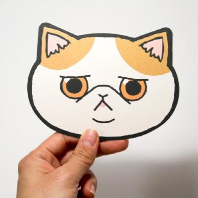 Cute Korean Fashion Cartoon Cat Card DIY Message Cards Bookmark Supplies 1 Piece