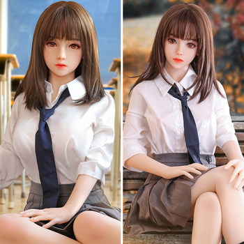 цена на 158cm Real Silicone Sex Dolls Realistic Life Size Breast Oral Love Doll Sexy Big Breast Sexy Vagina Japanese student Adult Toys