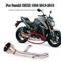 Выхлопная система для мотоцикла  труба для Suzuki GSX-S GSXS 1000 GSXS1000 2015 2016 2017 2018  средняя Соединительная труба  заменяющая модифицированный катализ...